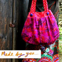 Pleated Shoulder Bag Sewing Pattern