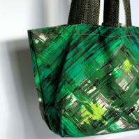 Green Flash Market Tote - Simple Fabric Bag