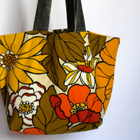 Groovy Floral Market Tote - Simple Fabric Bag
