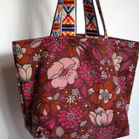 Pretty in Pink Market Tote - Simple Fabric Bag