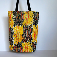 Orange Scribble Classic Tote with Gusset – simple fabric bag