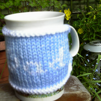 Blue and White Dad Mug Cosy