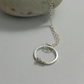 Sterling Silver circles modern Necklace