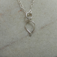 Sterling silver mini Oval Necklace - small & sweet