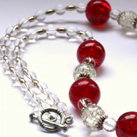 Chunky Red and Silver Necklace