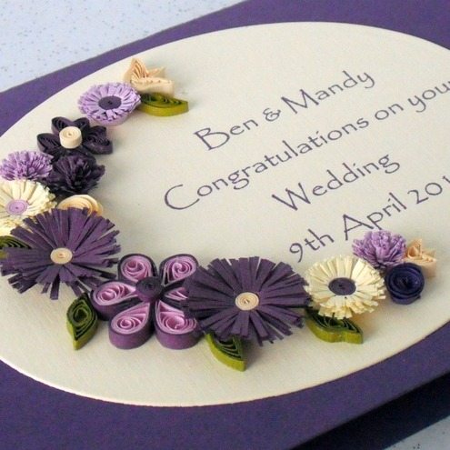 Quilling wedding card