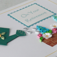 Quilled retirement card