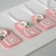 New baby card, girl birth congratulations card