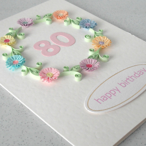 80th birthday card Folksy – 80th Birthday Cards