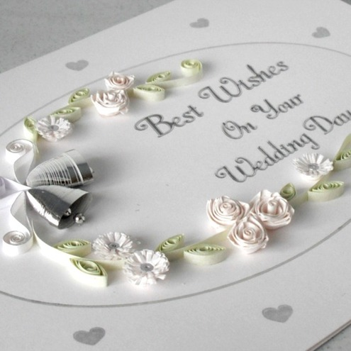 Paper quilling wedding card