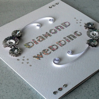 Diamond wedding anniversary card, 60th anniversary