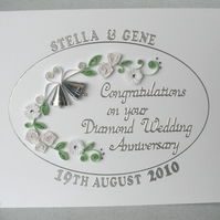 Quilling 60th anniversary card