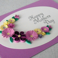 Quilling Mother's Day card