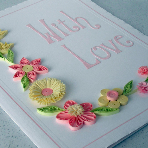 Quilled card for any occasion - pretty quilling