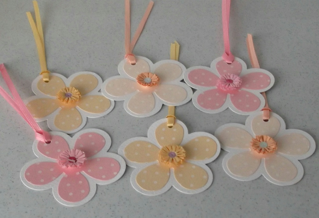 Quilled gift tags, any occasion, set of 6