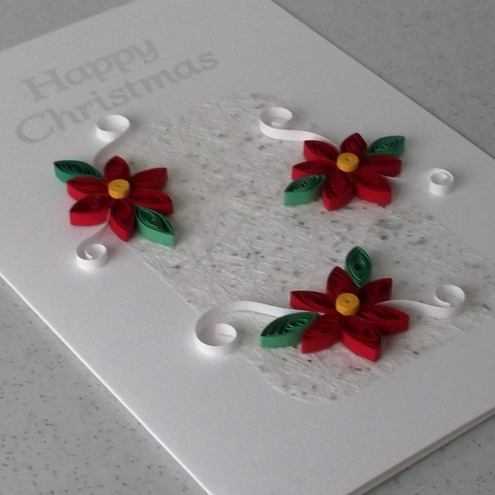 Quilled Christmas Card Handmade Paper Quilling Folksy