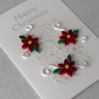 Quilled Christmas card - handmade, paper quilling