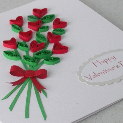 Handmade Valentine card quilling personalised Folksy – Hand Made Valentine Card