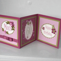Personalised quilled 3 panel card