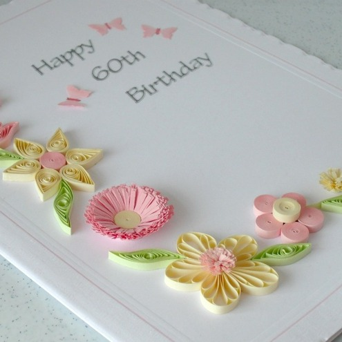Handmade Quilled Birthday Greeting Card With Qu Folksy