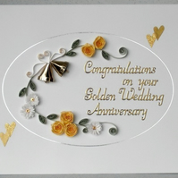 Quilling 50th anniversary card