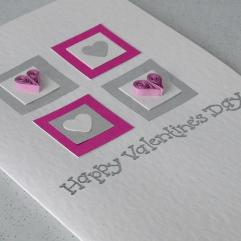 Sale Quilled Hearts Valentine Card With Paper Folksy