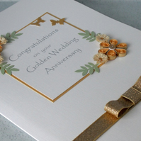 50th golden wedding anniversary card