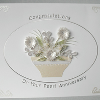 30th anniversary card, pearl wedding