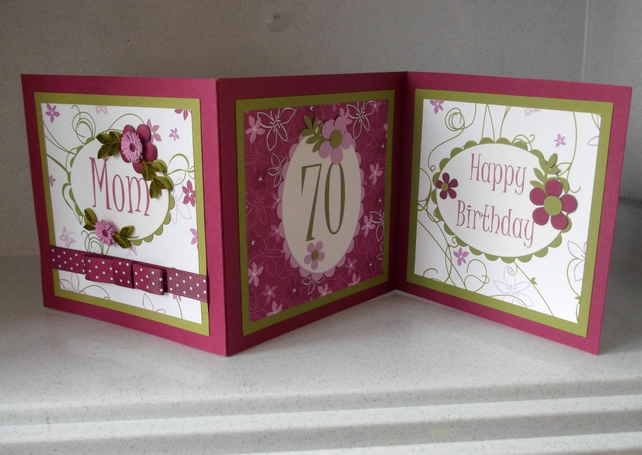 70th birthday card handmade quilled personalis Folksy – Handmade 70th Birthday Cards