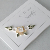 Quilled sympathy card, paper quilling, handmade