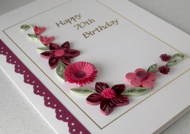 70th birthday card Folksy – Handmade 70th Birthday Cards
