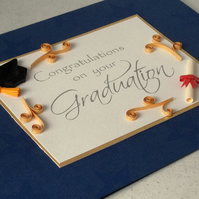Quilled graduation congratulations card