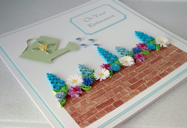 Congratulations on your Retirement card - quilled, personalised