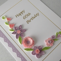 65th birthday card