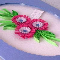 Quilled 80th birthday card, can be for any age