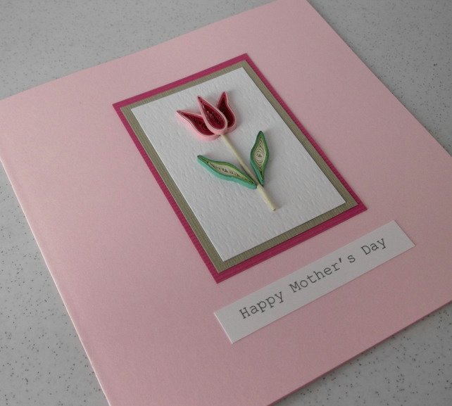 Happy Mother's day card, handmade, quilling