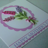 Mother's Day card - quilled