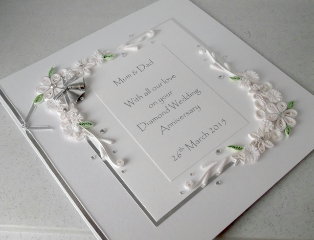 Diamond 60th wedding anniversary card