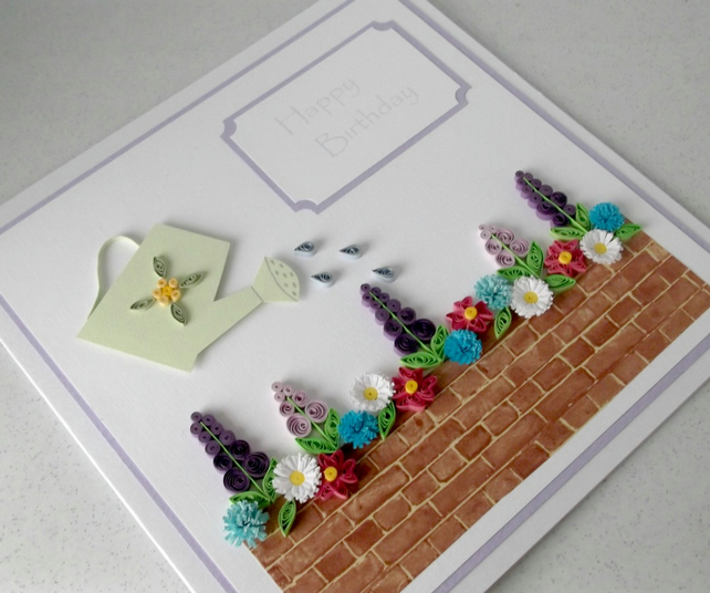 Quilled birthday card - handmade, personalised