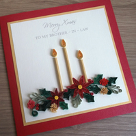 Quilled Christmas card, personalised