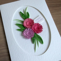Birthday card, quilled