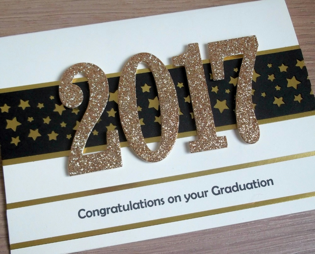 Handmade graduation congratulations card 2017