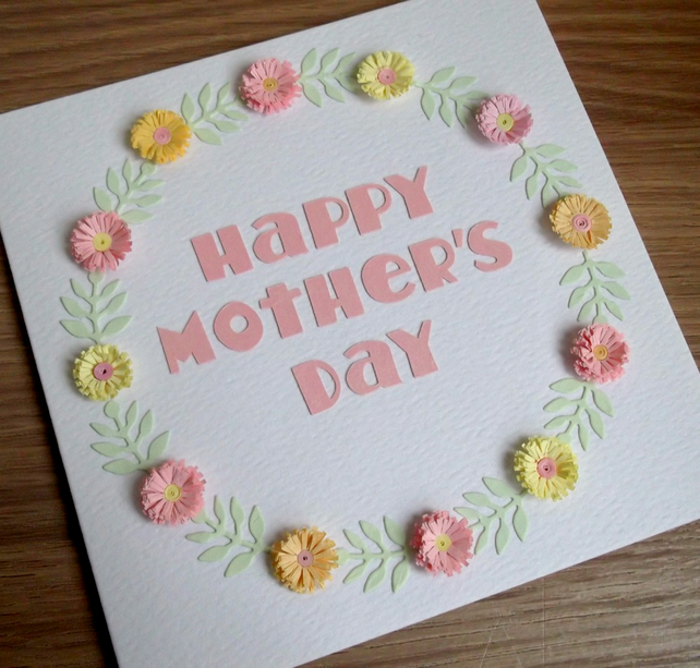 Mother's day card, paper quilling