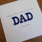 Handmade father's day card, personalised