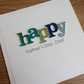 Handmade father's day card, can be personalized, dad, daddy
