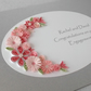 Handmade quilled engagement congratulations card in silver and pink