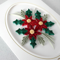 Quilled Christmas card, personalised, mum