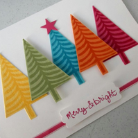 Bright and colourful Christmas card