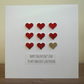 Handmade personalised Valentine card