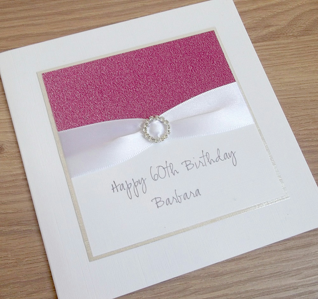 Handmade 60th Birthday Card Personalised You